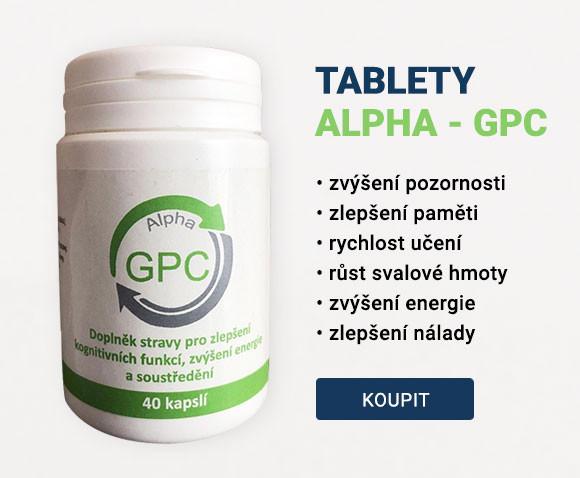 Tablety obsahují látku Alpha GPC - L-Alpha glycerofosfocholin (GPC), tato speciální látka je jedna z nejsilnějších nootropních doplňků na mozkovou činnost.